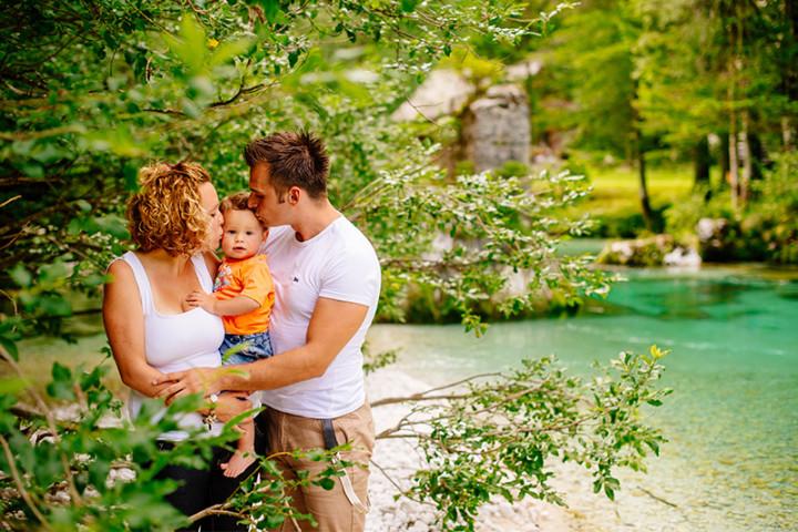Družinsko fotografiranje v Bohinju