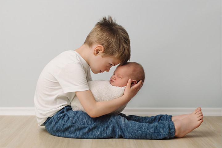 Fotografiranje novorojenčkov z Juretom in Piko ~ Žirovnica